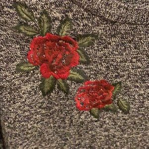 torrid Sweaters - Torrid Sweater w Faux Layer & Embroidered Rose